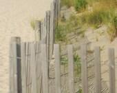 Sand Dune Fence Beach Cape May New Jersey Fine Art Photograph