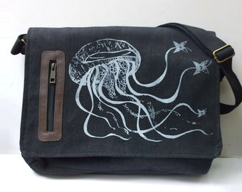 Ninja Jellyfish messenger bag