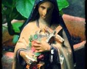 Saint Thérèse of Lisieux, vintage statue, saint statue, French vintage sculpture, Catholic statue, Saint Thérèse, French vintage decor