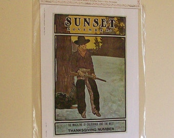 Vintage Nostalgia Print Sunset Magazine 1970s NIP Advertising Art