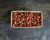6 Cups - Orange Putka Pods in Chipwood Berry Basket