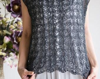 "Knitting Pattern: ""Smoke"" Sleevless top by DanDoh, Yumiko Alexander"