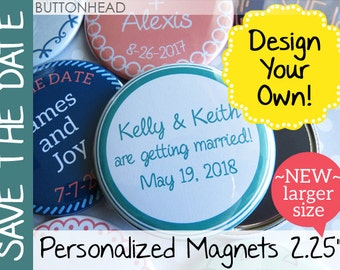 75 Wedding Save the Date Magnets - Custom 2.25 Inch Round