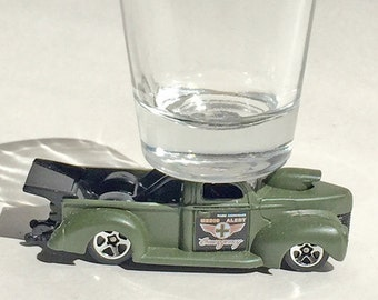 The ORIGINAL Hot Shot, Classic Hot Rods, Shot Glasses, '40 Ford Medic Pick up, Hot Wheel