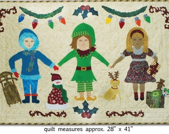 Paper doll Quilt BFFwinter Holly Days
