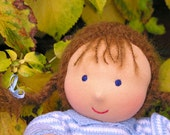 13 inch Waldorf Doll with two outfits, light brown hair