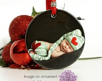 Family Christmas Gift Photo Ornament Gift For New Mother Expecting Mother Gift Custom Photo Ornament Great Gift for Grandparents