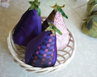 Heirloom Black Beauty Eggplant Stuffed Vegetable Kitchen Purple Garden Veggie Decor