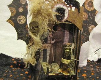Halloween altered art witch shrine full of magic!
