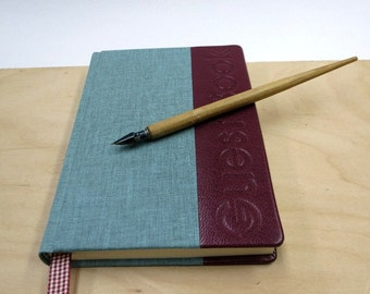 Guest Book, writing book, blank book, leather, paper goods, hand made, lined paper, Wedding Guestbook, Cabin Guestbook,