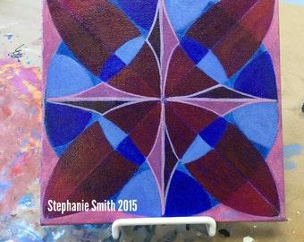 Original Mandala Art: Leading Direction Inspirational Meditative Reflective
