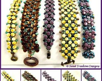 Beadweaving Tutorial, Bracelet Pattern, Pellet Pattern, Beading Instructions, Bracelet tutorial, .pdf Instructions for Personal Use