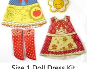 KIT Size 1: Doll Dress Clothing Fairy Tale for Tiny Dolls