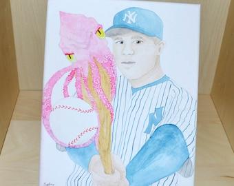 Gary Sanchez New York Yankees Watercolor Painting