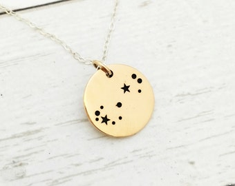 Scorpio Jewelry- Zodiac Jewelry - Zodiac Necklace - Constellation - Star - November Birthday Gift for Her - Sterling silver - Gold - Bronze