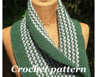 Pdf crochet pattern, cowl, scarf, scarflette, pretty cowl, neckwarmer