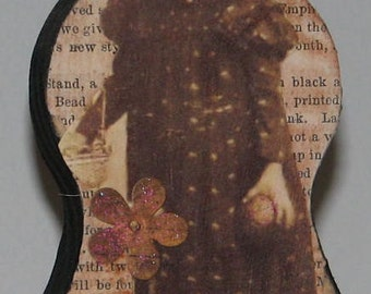 Primitive Style Wood Doll Girl Civil War Era London