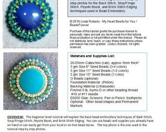 Beading Tutorial - Bead Embroidery for Beginners