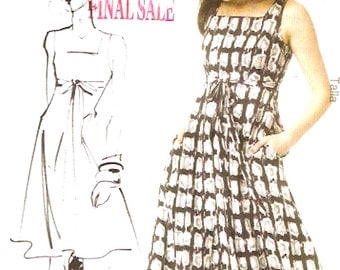Bridesmaids Dress belt Modern Fashion Star sewing pattern McCalls 6554 Sz 16 to 24 includes Plus size or 8 to 16 Uncut