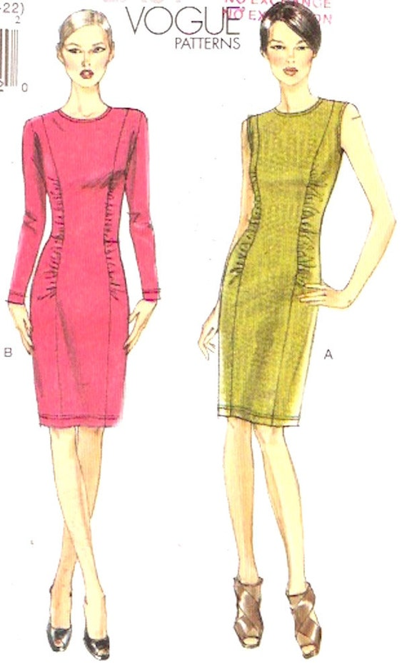 Stretch Knit Sewing Patterns : Close fitting dress Stretch knit style fashion Modern sewing