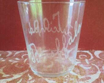 Vintage Etched Souvenir Shot Glass - 1907 Buffalo / Lucinda