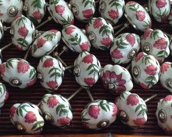 Handpainted Ceramic Knobs, Pulls, Home Decor