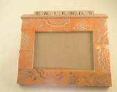 Upcycled MONSTER Can Scrabble Tiles Frame FRIENDS