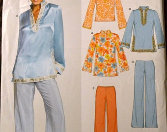 Sewing Pattern New Look 6544  Misses' Pullover Top and Pants Bust 30-44 inches UNCUT Complete