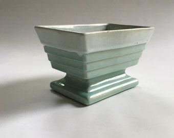 Vintage California Pottery Pale Blue Deco Style Planter