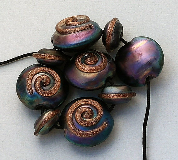 Lampwork Beads Glass Beads For Jewelry Making Craft Supplies Jewelry Supplies Bead Bracelet Bead Necklace Steampunk Jewelry Debbie Sanders