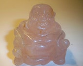 Rose Quartz Buddha Carved Gemstone Buddha, Home Decor, Collectible, Paperweight