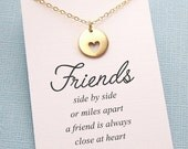 Best Friend Gift | Heart Charm Necklace | Friendship Jewelry | Best Friend Necklace | Charm Necklace | Silver or Gold | F04