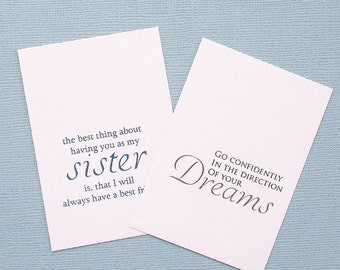 Message Card   Personalized Jewelry, Personalized Gift, Personalized Necklace, Mothers Gift, Gift for Her, Gift for Sister, Best Friend Gift