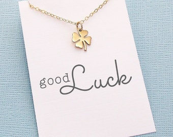 Best Friend Gift | Four Leaf Clover Necklace | Friendship Necklace | New Year Gift | Clover Charm Necklace | Silver or Gold | X08