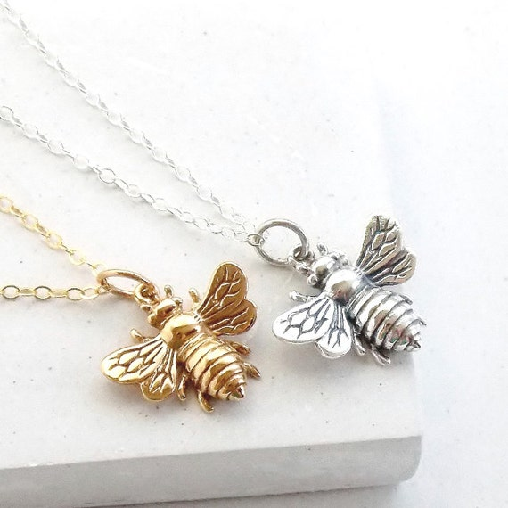 Large Bee Necklace Queen Bee Necklace Layering Necklace