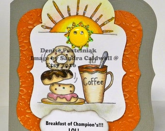 294 Coffee and Donuts Digi Stamp
