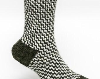Alpaca Wool Slip Stitch Socks