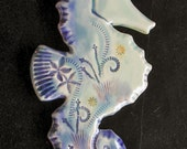 Ceramic Seahorse wall hanging for home or garden