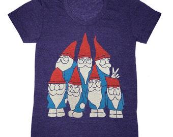Womens Gnomes T-shirt - Girls Tee Shirt Cute Wooldland Funny Gnome Humor Geek Scandinavian Wizard Elf Beard Fairytale Nature Forest Tshirt