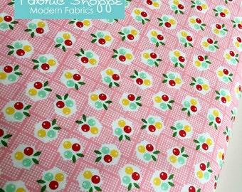 SALE Backyard Roses, Backyard Roses Berries in Pink fabric, Discount fabric, Riley Blake Fabrics, Fabric by the yard, Choose your cut