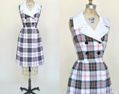 1960s Dress --- Vintage Plaid Toni Todd Dress