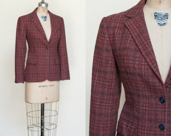 1980s Evan Piconet Blazer --- Vintage Plaid Jacket