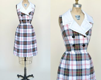 1960s Dress --- Vintage Plaid Toni Todd Dress
