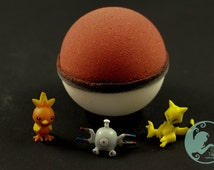 Pokeball Bath Bomb with a Pokemon inside!