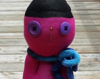Sock Creature - Sock Monster Doll - Extreme Stuffed Animal Doll - Karol