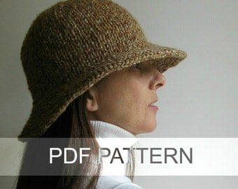 Branda Cloche Hat PDF Knitting Pattern, Bucket Hat, Instant Download, Knitting Patterns, Digital , Womens Hat, Winter Hat, Knitting Supply