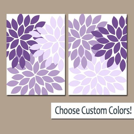 Purple WALL Art Canvas Or Prints Lavender Bathroom Artwork Bedroom