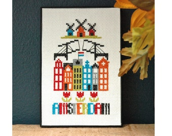 Amsterdam Cross Stitch Pattern Instant Download