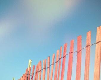 Large Wall Art . oversized art print . beach photography . travel photograph . minimal landscape . summer photograph . Lake Michigan . red