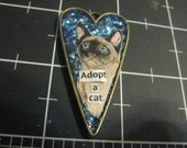 Adopt a Cat Siamese Pendant, 50% of the proceeds go to the current selected animal charity